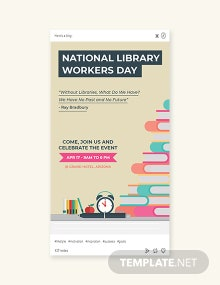 Free National Library Workers Day Tumblr Post Template