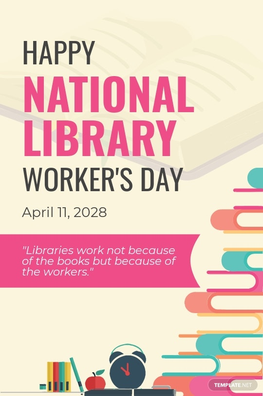 Free National Library Workers Day Tumblr Post Template.jpe