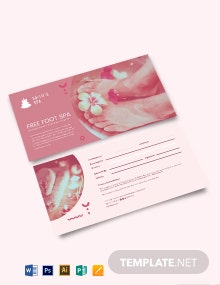 Beauty &  Spa Gift Voucher Template
