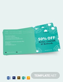 Spa Voucher Book Template