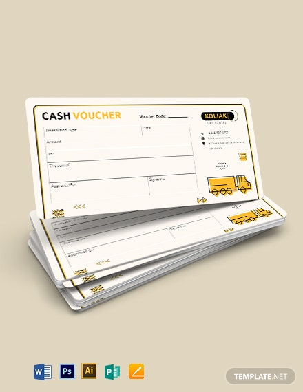 Transport Cash Voucher Template
