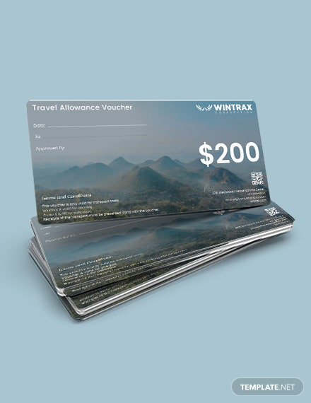 Travel Allowance Business Voucher Template