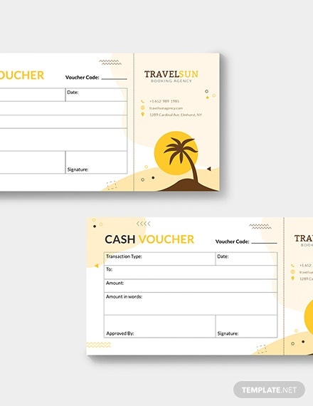 Sample Travel Cash Voucher