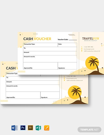 travel cash voucher template 1