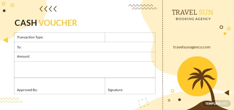 Travel Cash Voucher Template