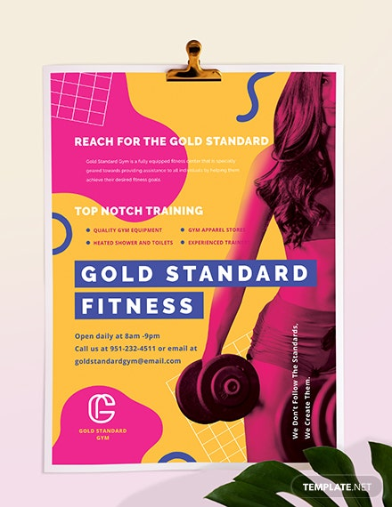 Sample Fitness Poster