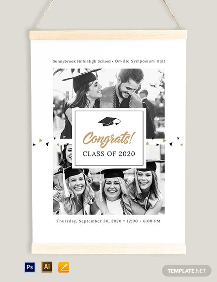 Graduation Ceremony Poster Template