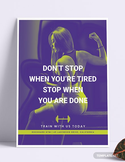 Sample Gym Poster