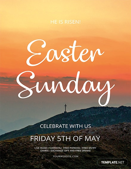 Free Creative Easter Sunday Flyer Template