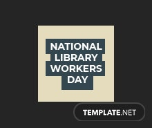 Free National Library Worker's Day Instagram Profile Photo Template