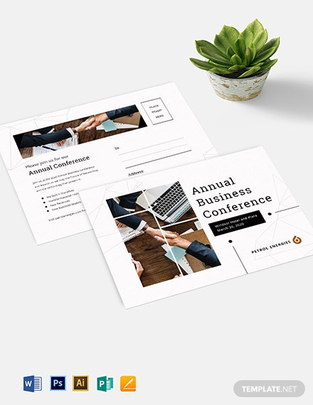 Business Event Postcard Template