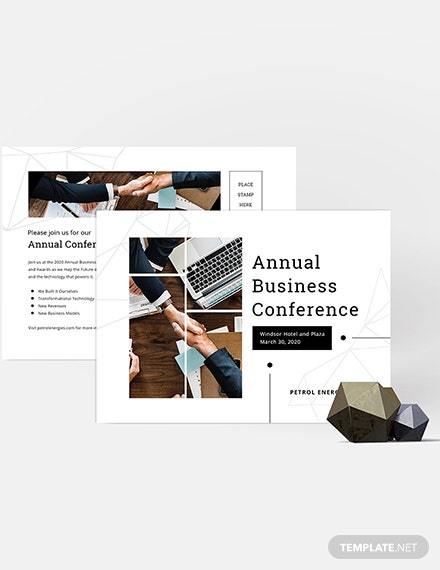 Sample Business Event Postcard