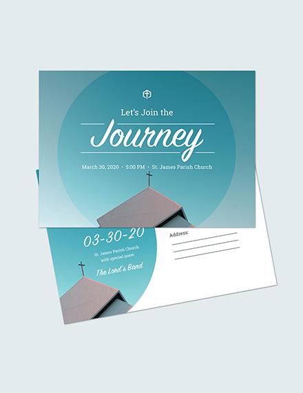 Church Invitation Postcard Download