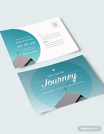 Sample Church Invitation Postcard
