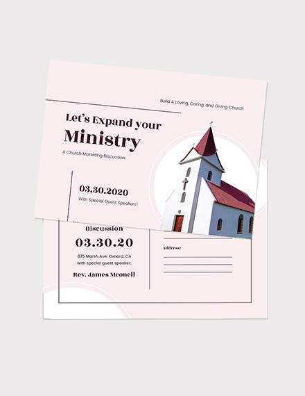 Church Marketing Postcard Download