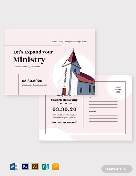 Church Marketing Postcard Template