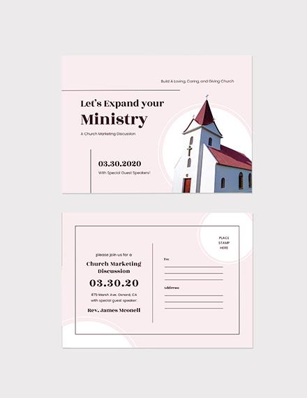 Sample Church Marketing Postcard