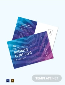 Corporate Event Planner Postcard Template