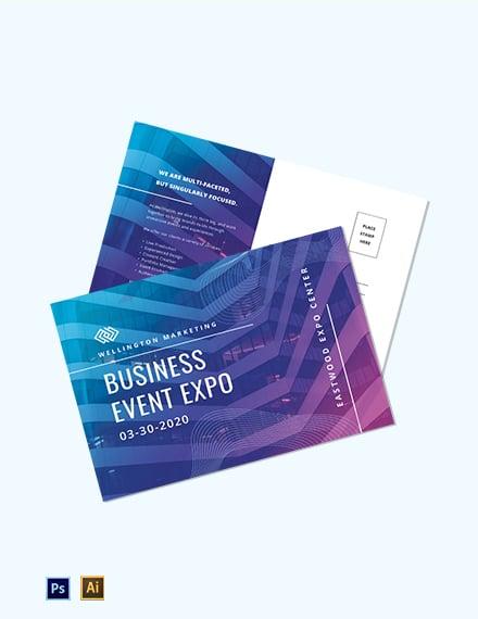 Corporate Event Planner Postcard Template