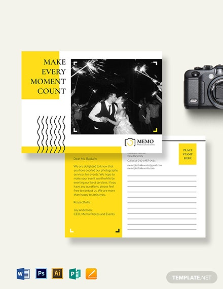 Event Photography Postcard Template