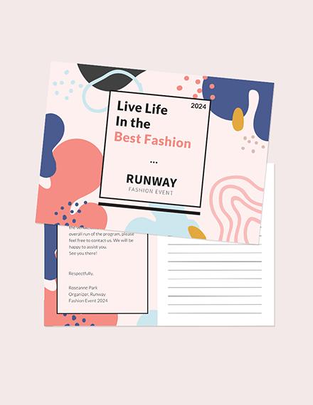 Fashion Event Postcard Download