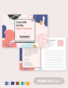 Fashion Event Postcard Template