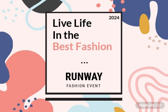 Fashion Event Postcard Template