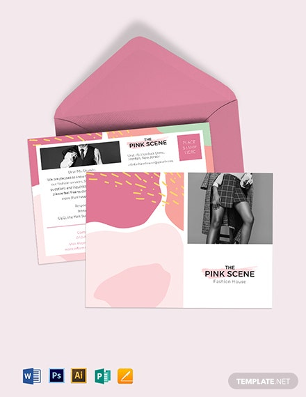 Fashion Postcard Template