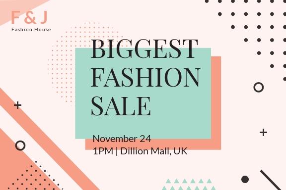 Fashion Sale Postcard Template