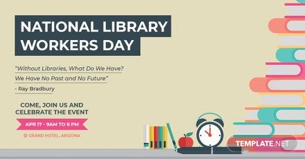Free National Library Worker's Day LinkedIn Blog Post Template
