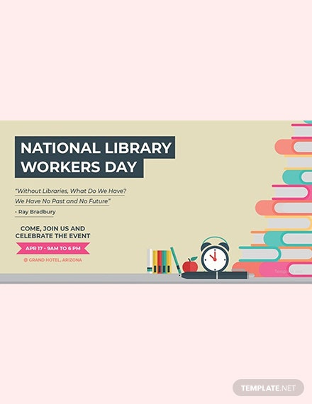 Free National Library Workers Day LinkedIn Blog Post Template