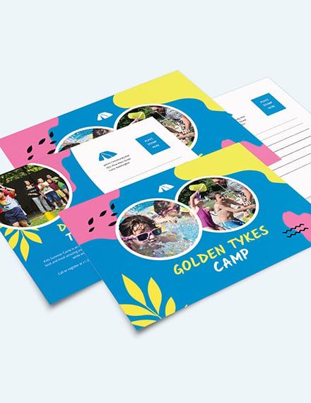 Kids Summer Camp Postcard Download