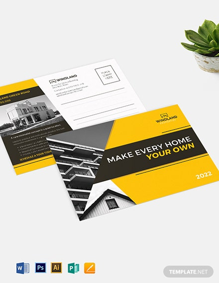 Real Estate Listing Postcard Template