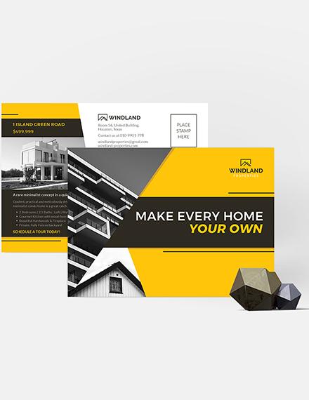 Sample Real Estate Listing Postcard