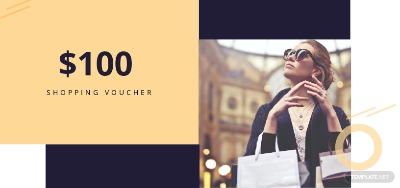 $100 Shopping Voucher Template