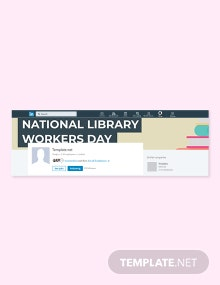 Free National Library Workers Day LinkedIn Company Cover Template