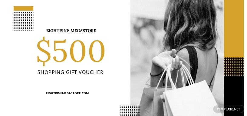 $500 Shopping Voucher Template