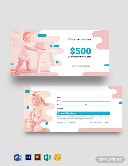 Baby Shopping Voucher Template