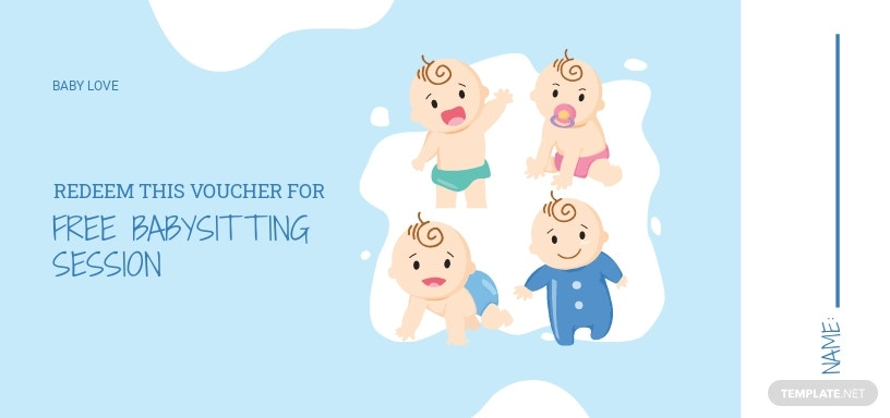 Baby Sitting Love Voucher Template
