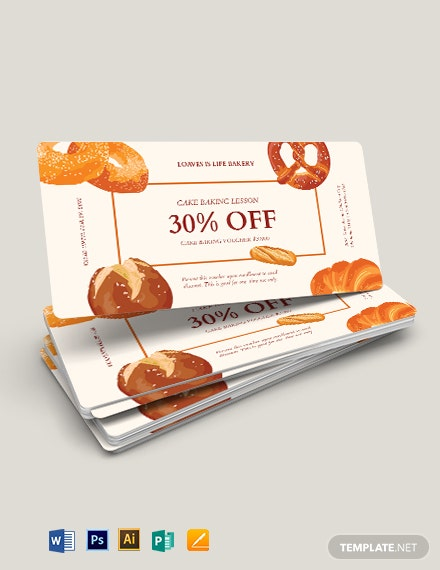 Baking Voucher Template