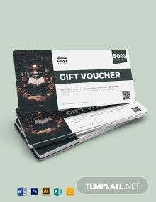 Bookstore Promotion Voucher Template