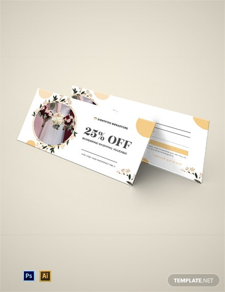 Bridesmaid Shopping Voucher Template
