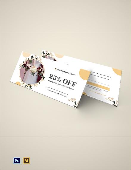 Bridesmaid Shopping Voucher Template
