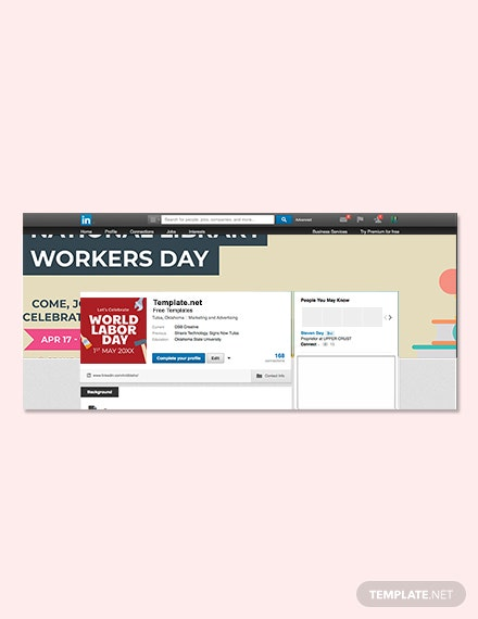 Free National Library Workers Day LinkedIn Profile Banner Template