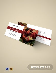 Christmas Shopping Voucher Template