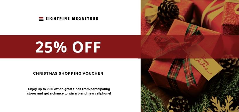 Christmas Shopping Voucher Template