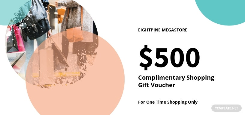 Complimentary Shopping Gift Voucher Template