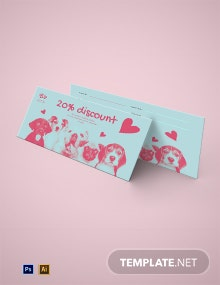 Dog Sitting Love Voucher Template