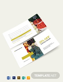 Grocery Shopping Voucher Template