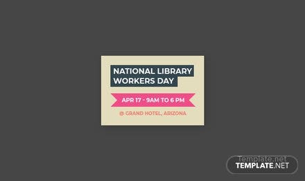 Free National Library Worker's Day Pinterest Board Cover Template
